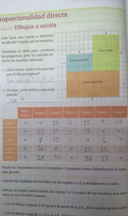 respuestas de la página 52 del libro de matemáticas 1 de ...